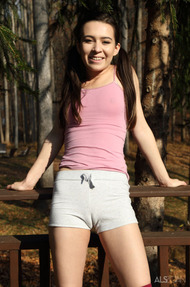 Ariel Grace Strips To Naked In The Garden 18