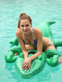 Playful Teen Candy Sweet Strips Out Of Her Bikini 01