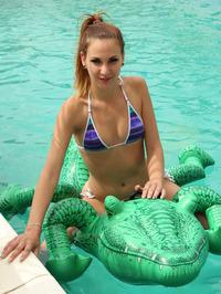 Playful Teen Candy Sweet Strips Out Of Her Bikini 03