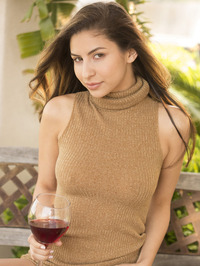Nina North Is Drinking Some Wine 04