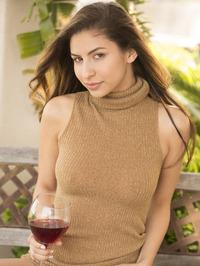 Nina North Is Drinking Some Wine 04