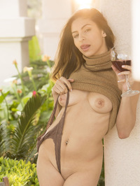 Nina North Is Drinking Some Wine 17