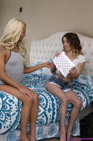 Step Brother Crashes Sisters Elsa Jean And Alana Summers Pajama Party