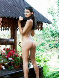 Skinny Black Haired Russian Hottie Leila 18