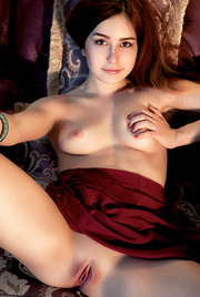 Kylie D Sure Looks Cute Tugging On Her Long, Auburn Hair 00