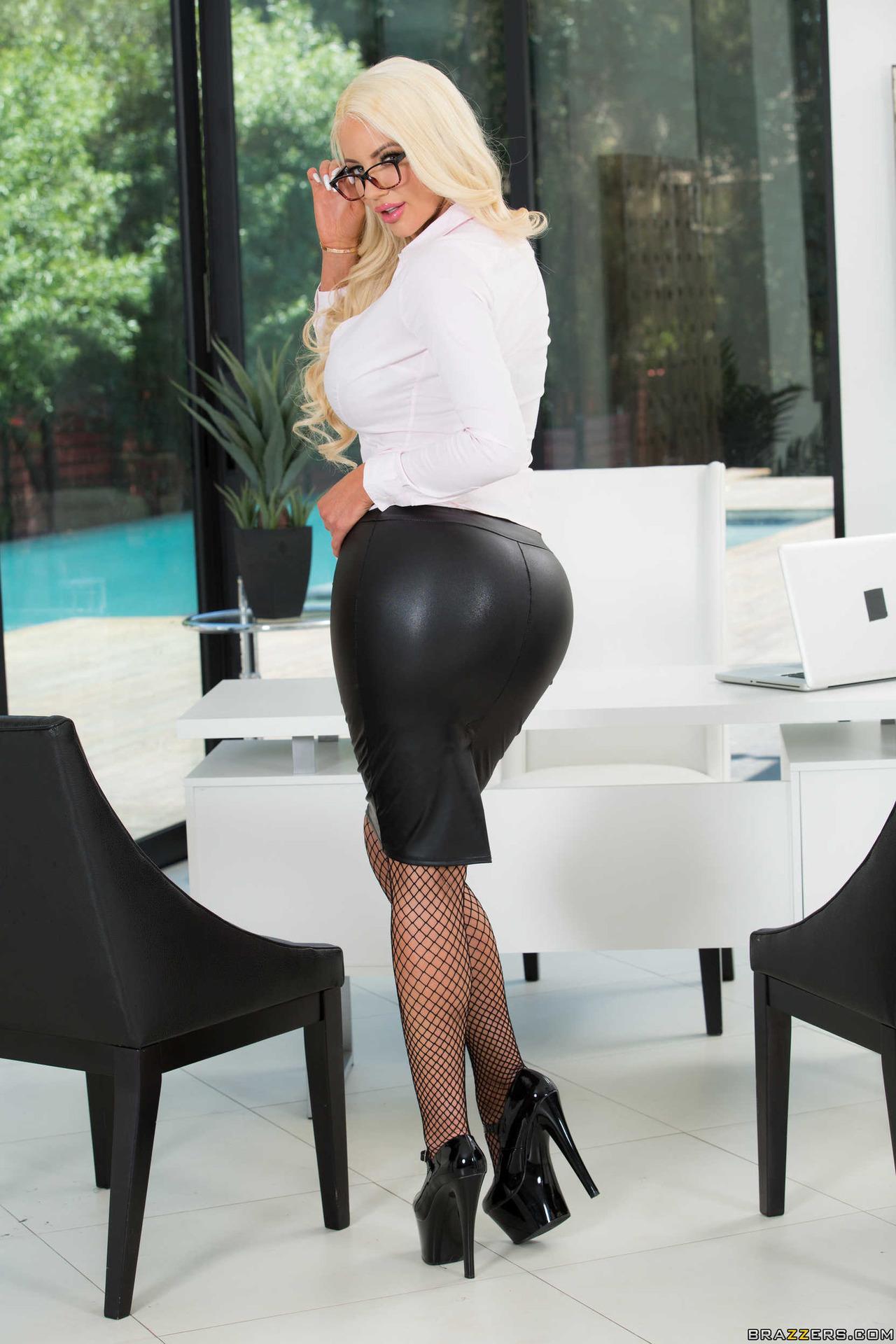 Big Boobed Secretary Strips