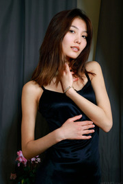 Eurasian Hottie Anna Aki Sizzles In A Simple Black Dress