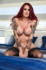 Tana Lea Busty Redhad And Tattoed Slut Strips