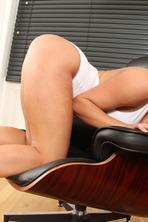 Sexy Big Boobed Blonde Sienna Shows Her Cunt 02